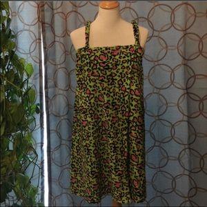 Bobbie Brooks Loungewear Cheetah Coverup 1X/2X